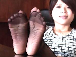 asian nylon feet