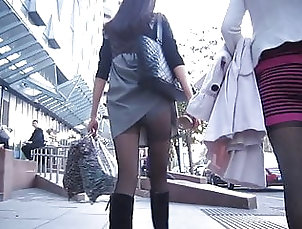 Hidden Camera;Upskirt;Stockings;Foot Fetish;Chinese;HD Videos candid lady in...