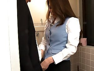 Asian,Japan HDV,China Mimura,japanese,asian,toilet,blowjob,high heels China Mimura...