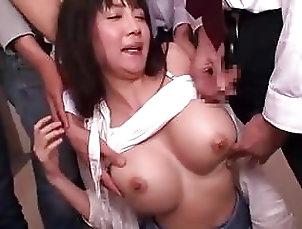 Asian;Blowjobs;Fingering;Japanese;Gangbang Miho Ichiki gets...