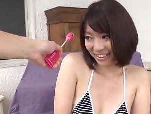 Asian,MILF,mom,hot milf,mini bikini,sex toys,toy insertion,vibrator,asian,trimmed pussy,natural tits,cumshot,facial Izumi Manaka...