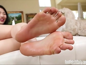 footfetishdaily;petite;asian;foot;fetish,Asian;Brunette;Small Tits;Feet,asia Nari Park...