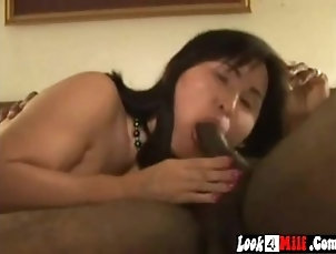 mom;mother;3some;bbc,Asian;Interracial;MILF;Threesome mature asian wife...
