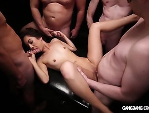 Group;Gangbang;Creampie;HD,Blowjob;Brunette;Cream Pie;Cum Shot;Gangbang;HD;Masturbation;Oral Sex;Shaved;Small Tits;Toys;Vaginal Masturbation;Vaginal Sex Gangbang Creampie...